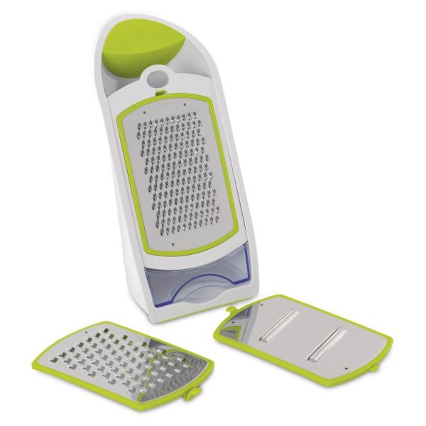 Ergonomic Green and White Grater