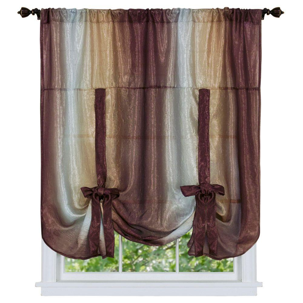 drapes achim up valance ombre l w p opaque tie curtains autumn curtain x shade in semi