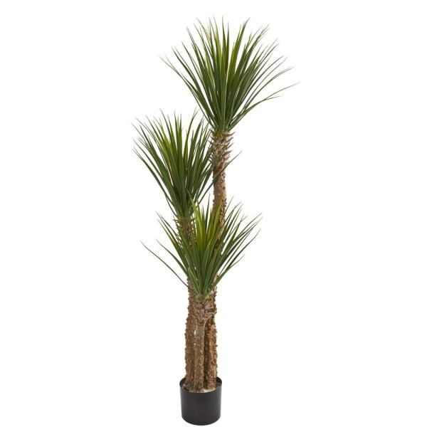 Indoor 57 in. Yucca Artificial Tree