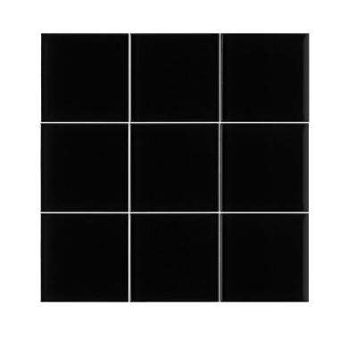 VitraArt Tranquil Midnight 4 in. x 4 in. Glass Wall Tile (6 sq. ft. / case)