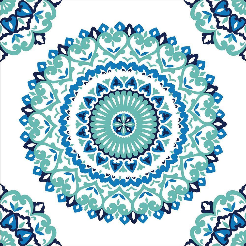 Multi Color Jasmine Medallion Peel And Stick Wallpaper