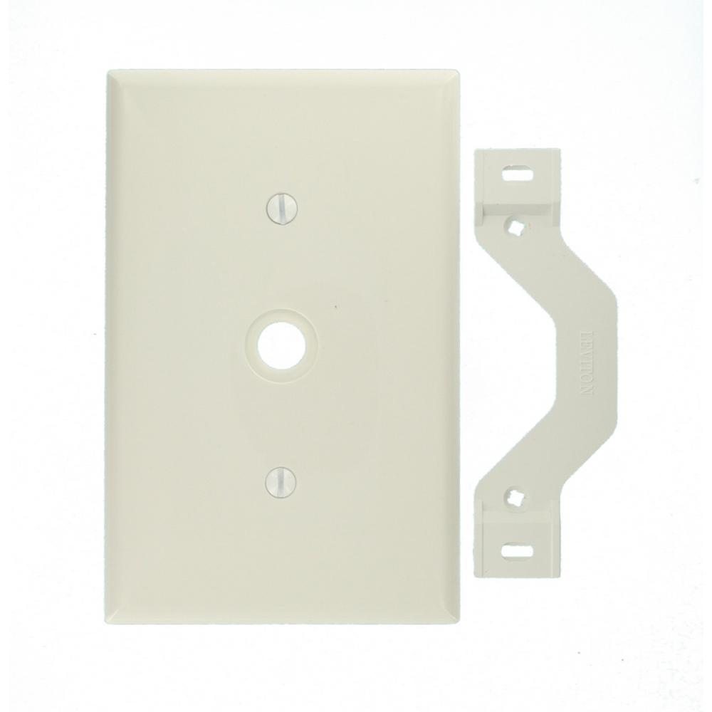 1-Gang Midway 0.406 in. Hole Device Telephone/Cable Wall Plate, White