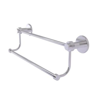 Allied Brass RD-72//18-PC Retro Dot Collection 18 Inch Double Towel Bar Polished Chrome