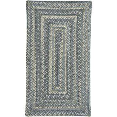 Tooele Blue Jean 3 ft. x 5 ft. Concentric Area Rug