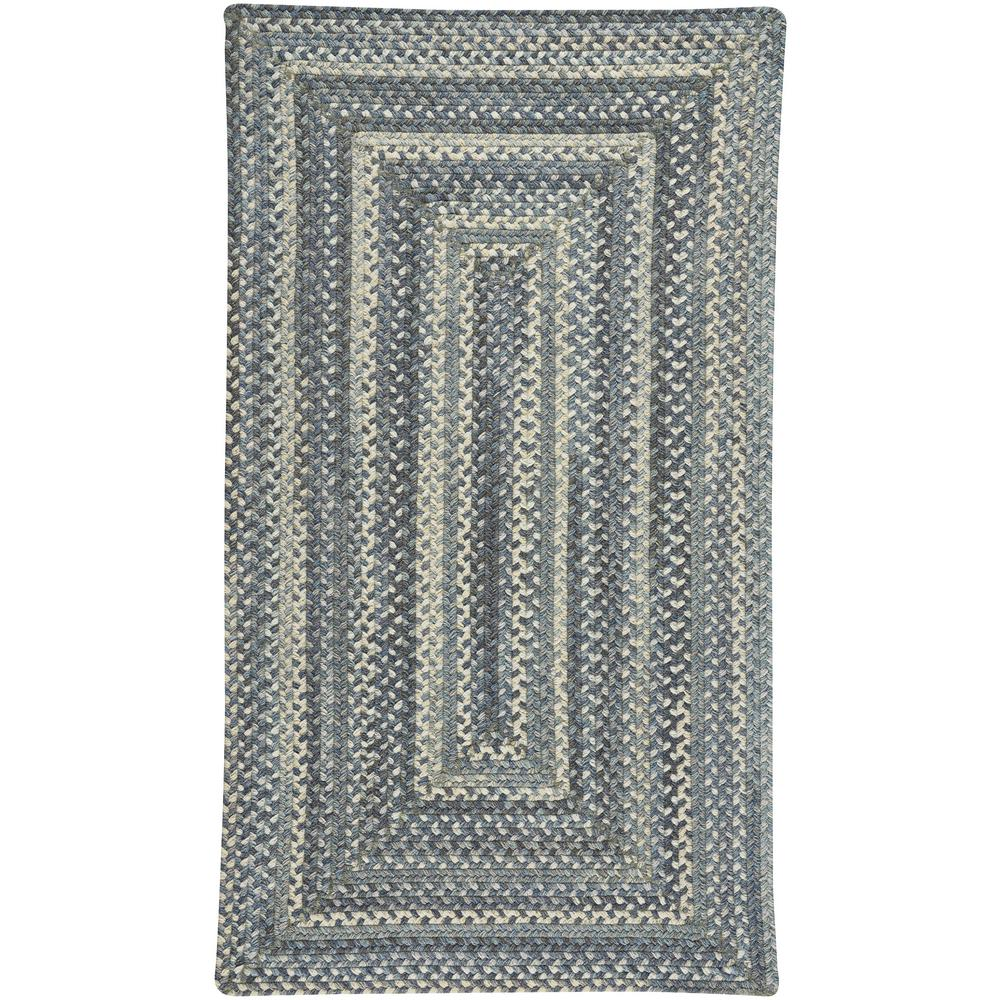 Tooele Blue Jean 8 ft. x 11 ft. Concentric Area Rug