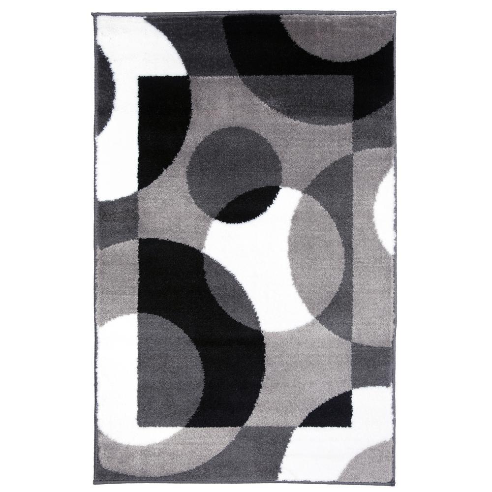 Rug Gallery Contemporary Circles Gray