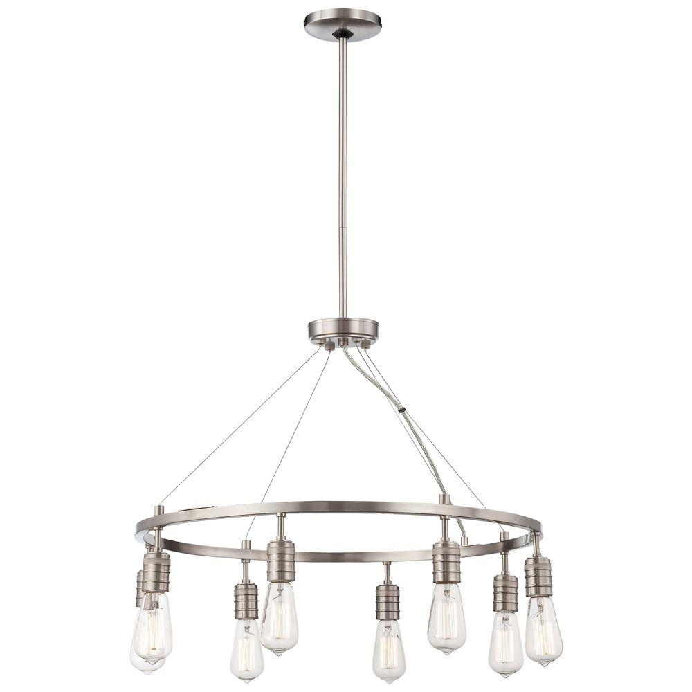 Minka lavery downtown edison 8 light brushed nickel chandelier 4138 minka lavery downtown edison 8 light brushed nickel chandelier arubaitofo Image collections