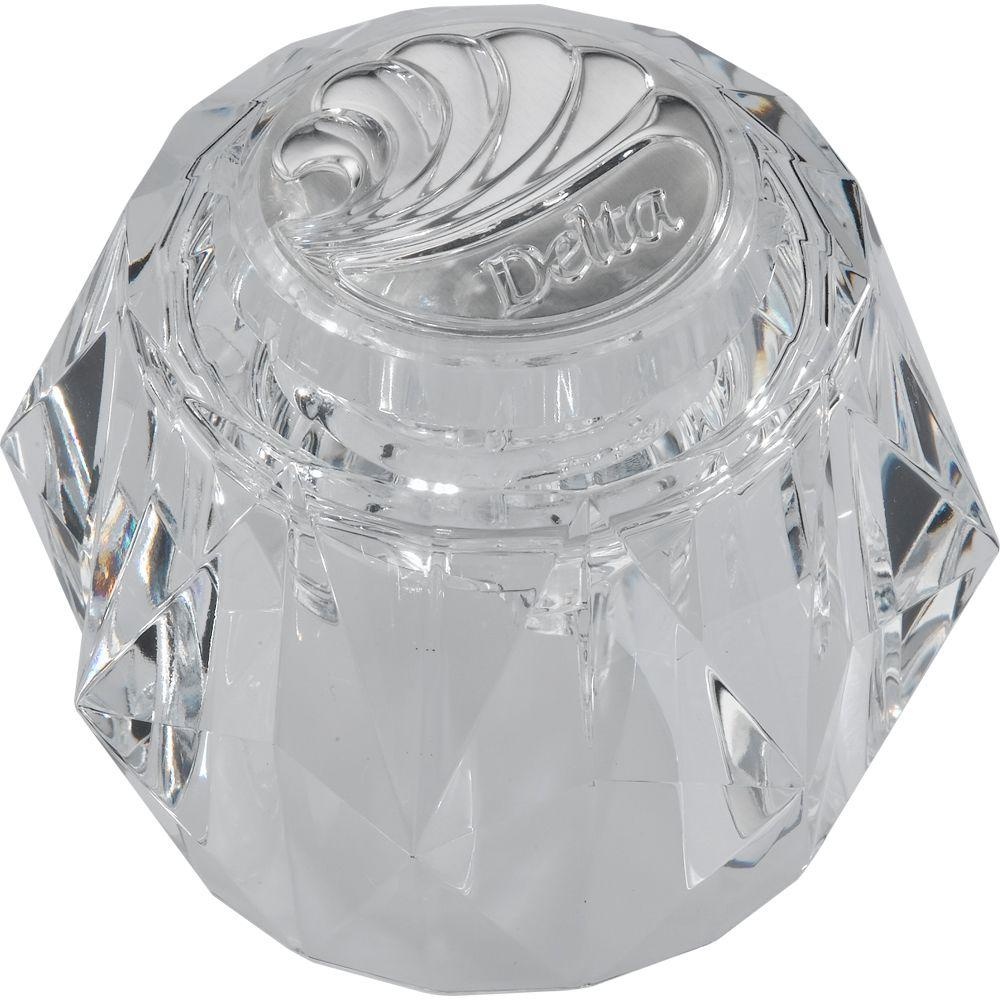 Delta Acrylic Bathroom Knob Handle For Faucets Rp2389