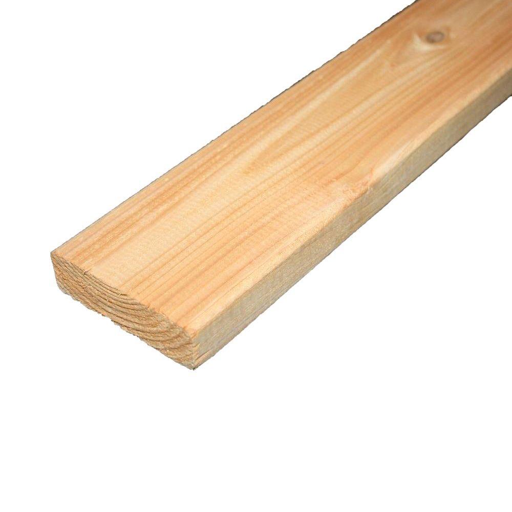5/4 in. x 4 in. x 16 ft. Premium Tight Knot Cedar Lumber-ST0510486 ...