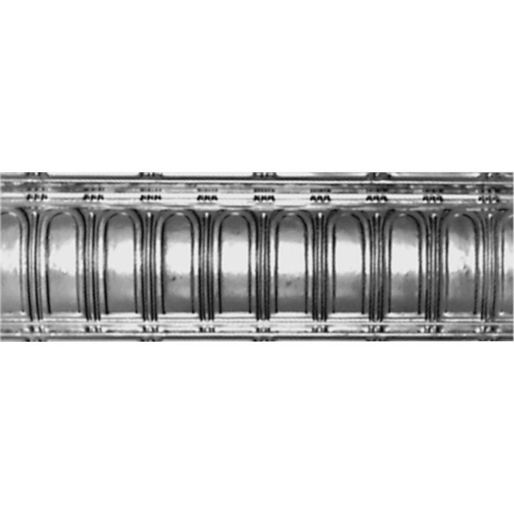 Shanko 6 in. x 4 ft. x 6 in. Nail-up/Direct Application Tin Ceiling Cornice in Bare Steel (6-Pack)