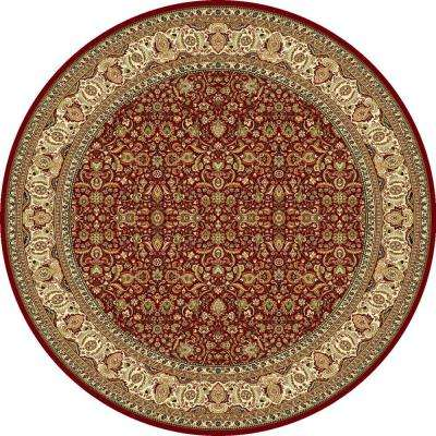 Super Kashan Red 7 ft. 10 in. Indoor Round Area Rug