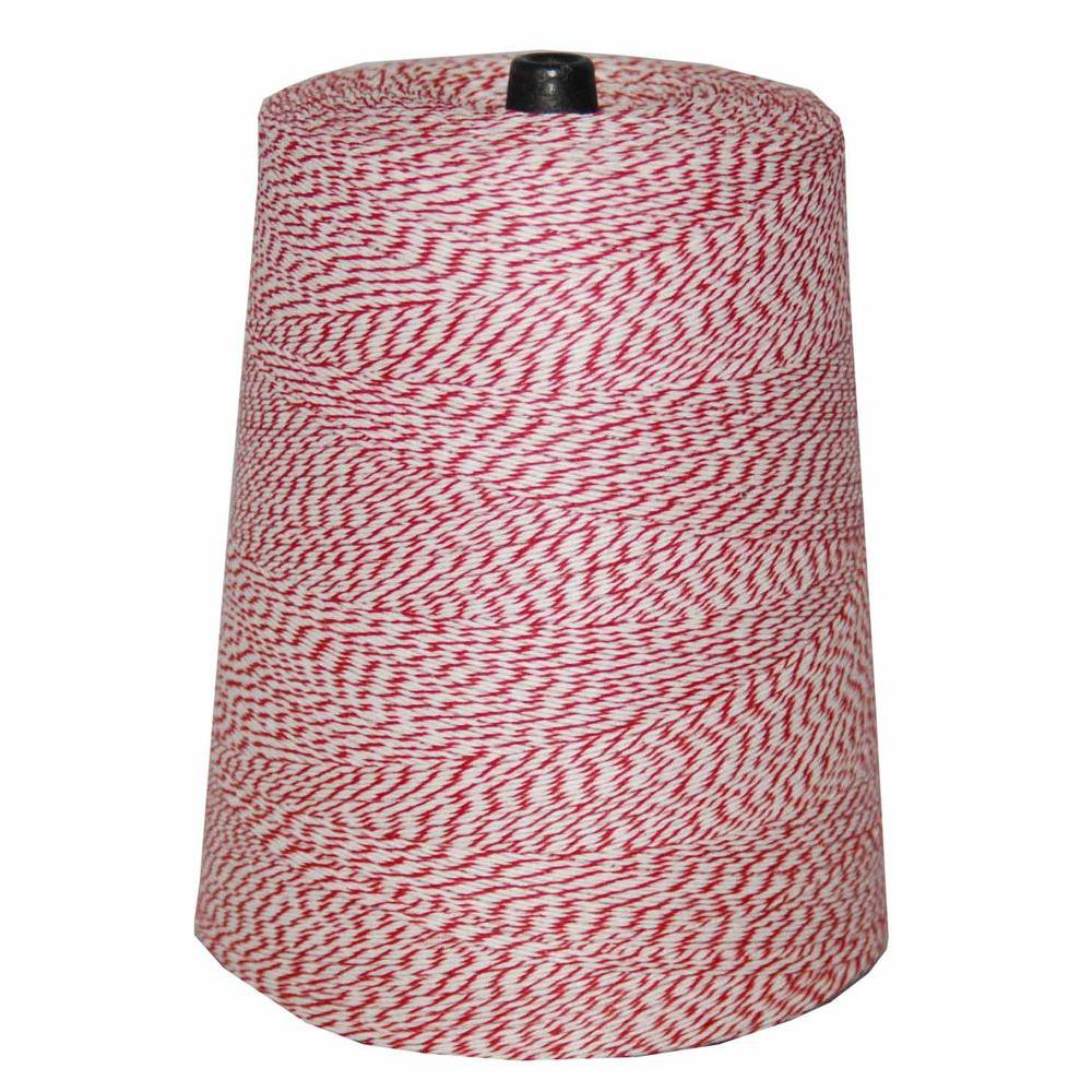T.W. Evans Cordage 4-Ply 9600 ft. 2 lb. Twine Cone in Variegated Red and White