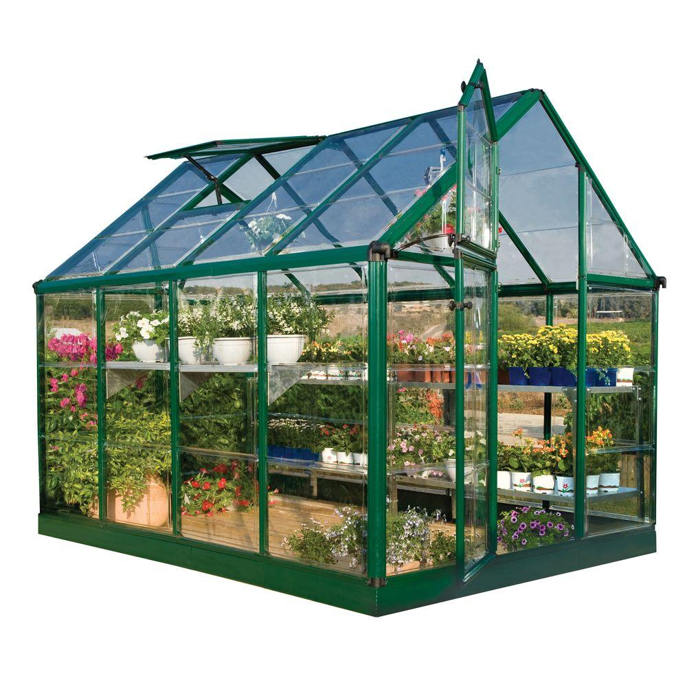 Palram Green 6 ft. x 8 ft. Greenhouse-DISCONTINUED