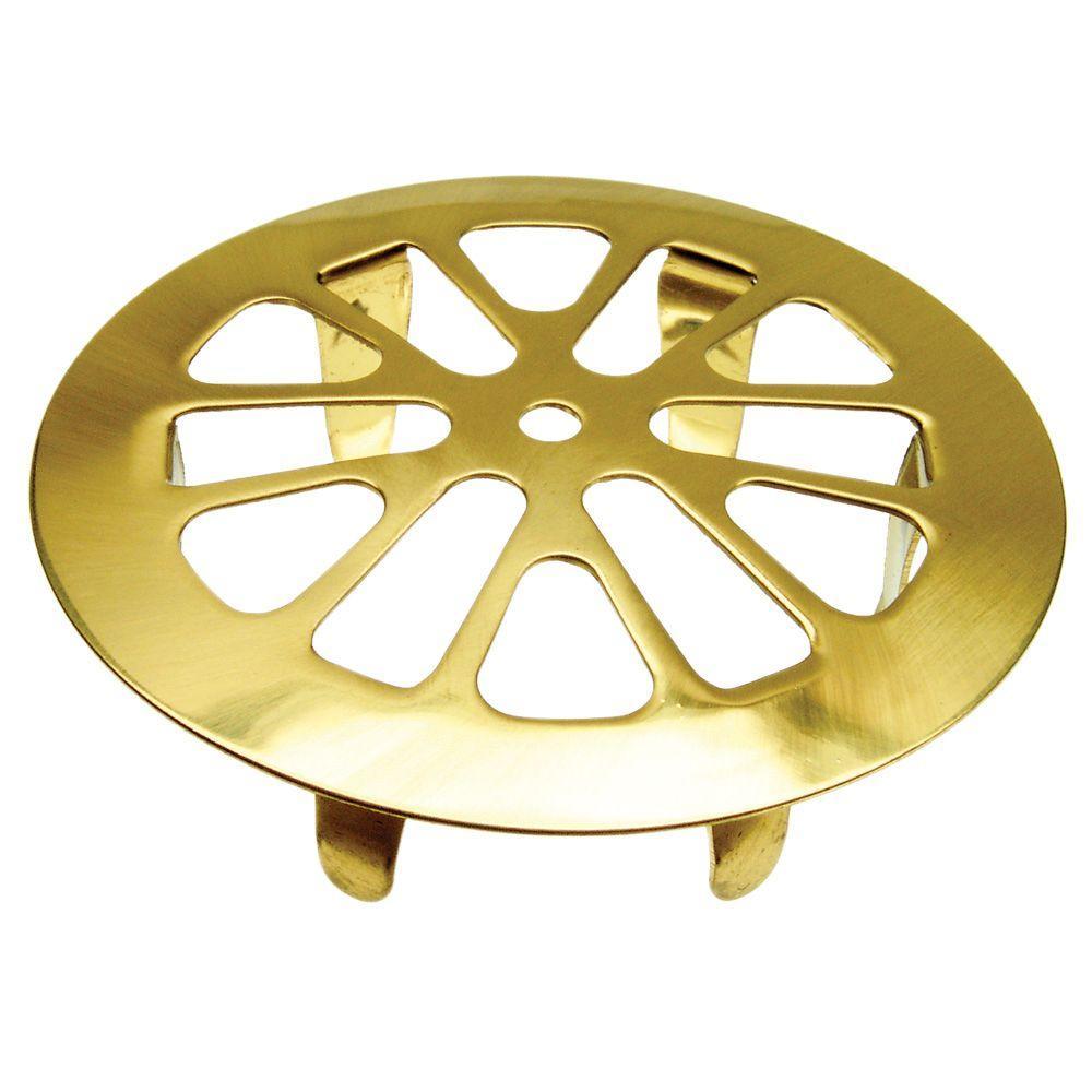 DANCO 2 in. Snap-In Tub Strainer in Polished Brass