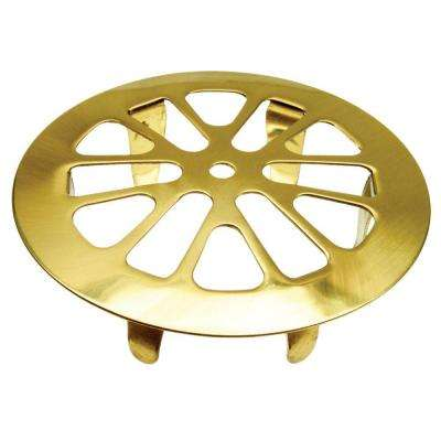2 in. Snap-In Tub Strainer in Polished Brass