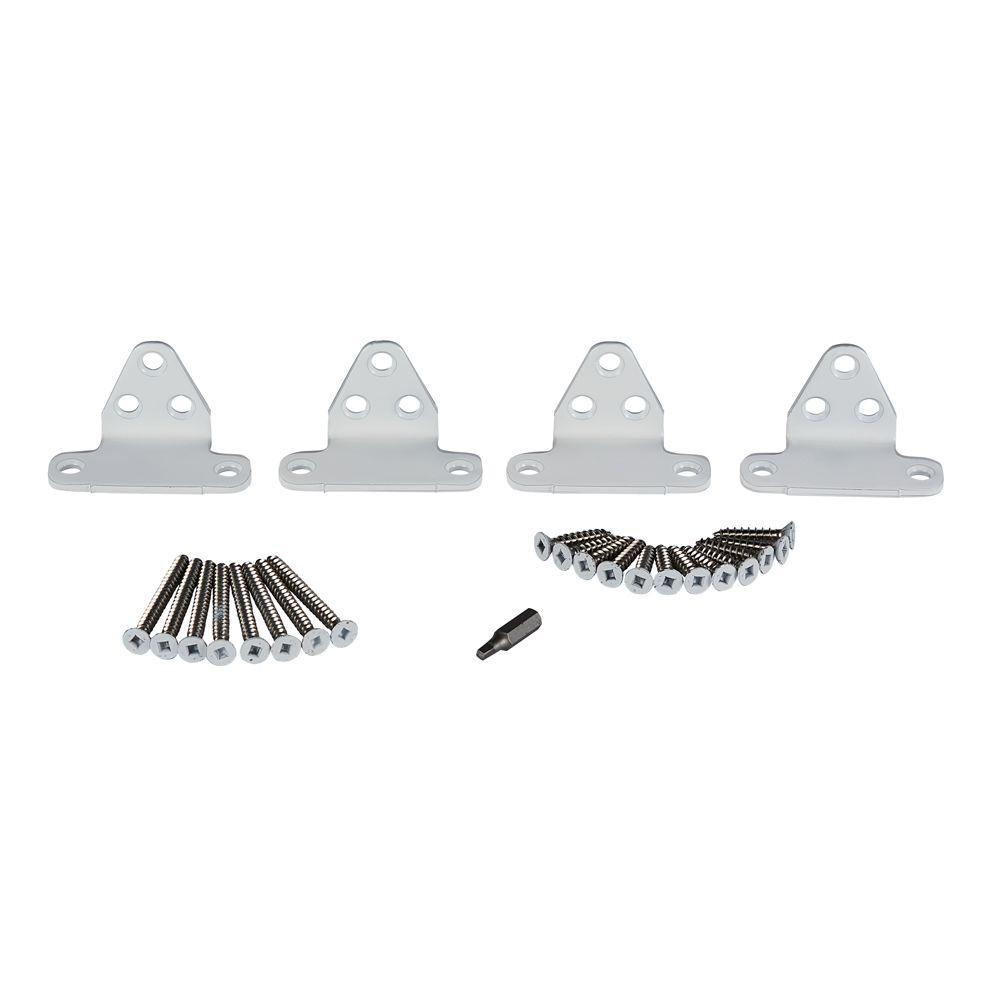 Horizon White Stainless Steel Line Rail Hardware Kit