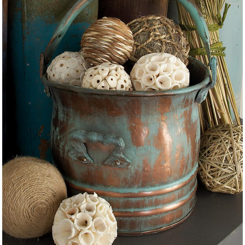 8 in. x 16 in. Coastal Living Brown Decorative Sola Balls