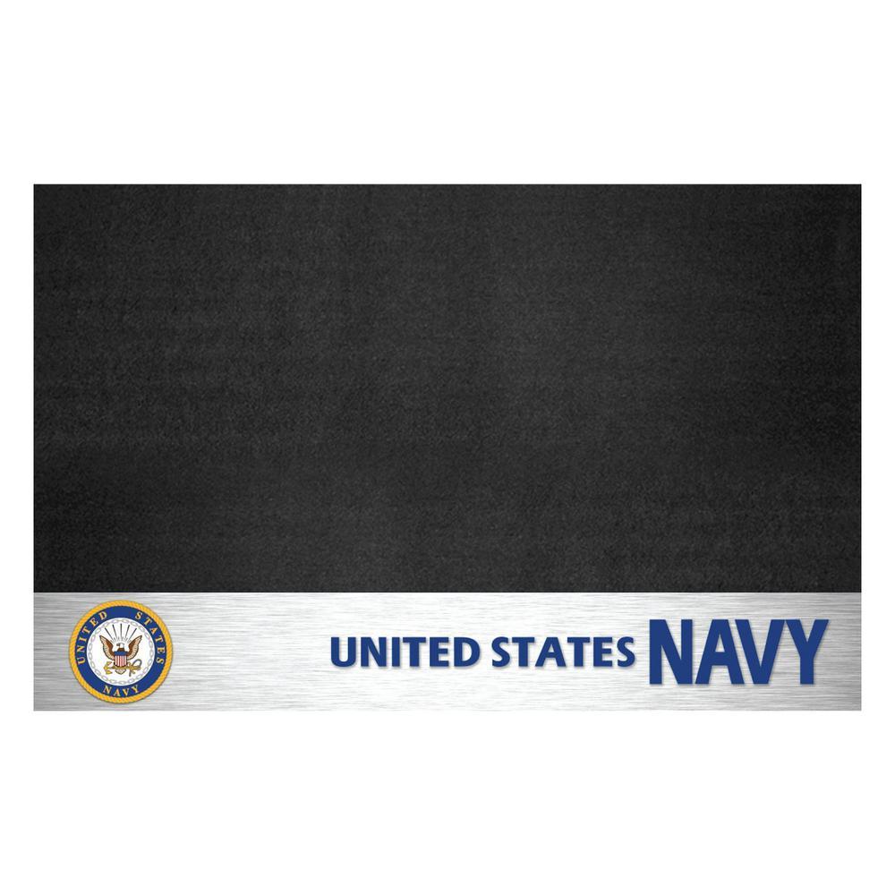 FANMATS MIL - U.S. Navy 42 in. x 26 in. Vinyl Grill Mat