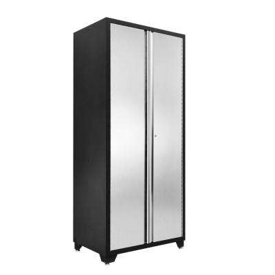 Pro Stainless Steel Series 83 in. H x 36 in. W x 24 in. D 2-Door Garage Cabinet in Silver