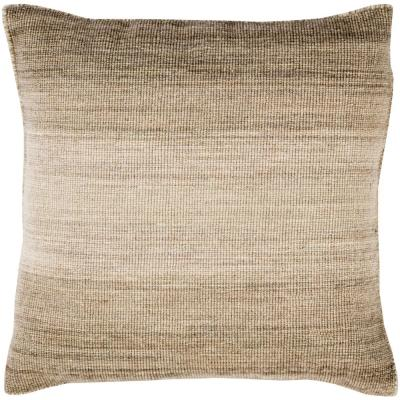 Stoneleigh Tan Striped Polyester 22 in. x 22 in. Throw Pillow