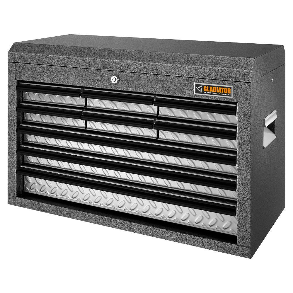 Merveilleux Gladiator Classic Series 26 In. W 9 Drawer Top Tool Chest