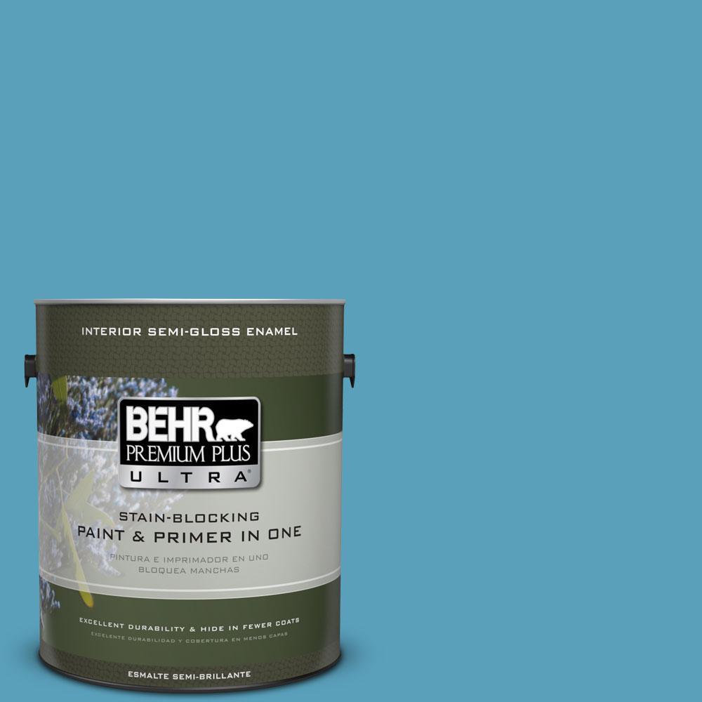 1-gal. #540D-5 Tropical Splash Semi-Gloss Enamel Interior Paint