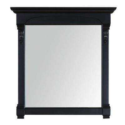 Brookfield 40 in. W x 42 in. H Framed Wall Mirror in Antique Black