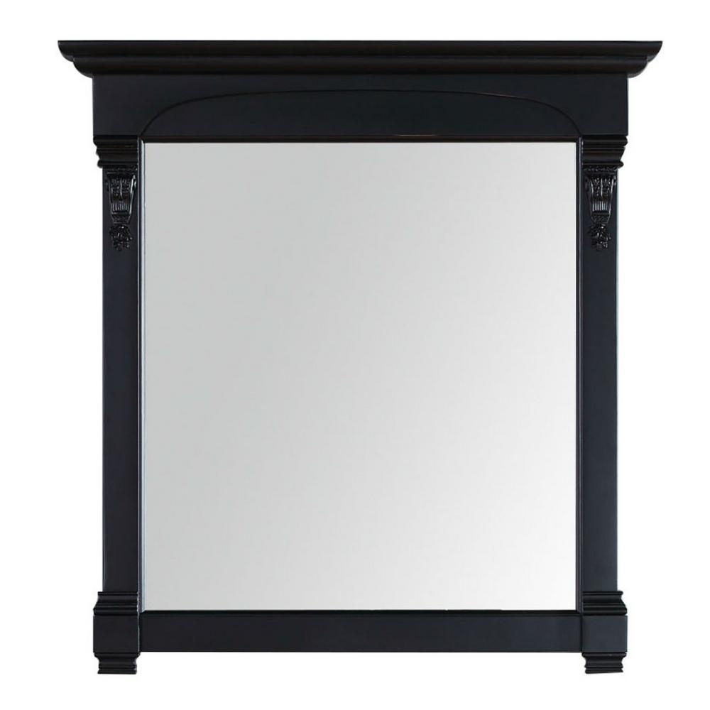 James Martin Vanities Brookfield 40 in. W x 42 in. H Framed Wall Mirror in Antique Black