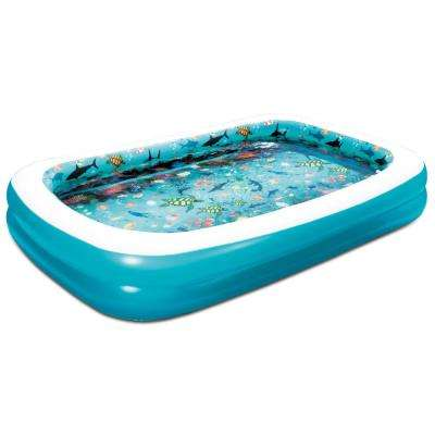 3D Family 103 in. x 69 in. x 18 in. D Inflatable Rectangular Above Ground Pool