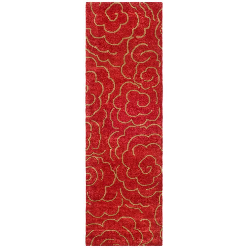 Soho Red 3 ft. x 10 ft. Runner Rug