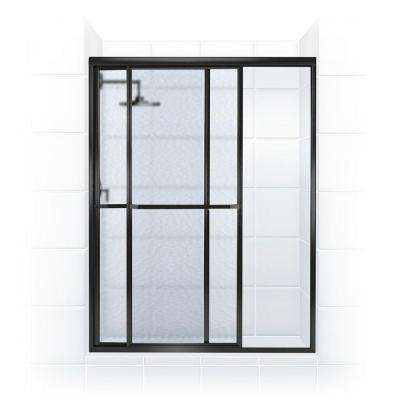 Paragon Series 50 in. x 70 in. Framed Sliding Shower Door with Towel Bar in Oil Rubbed Bronze and Obscure Glass