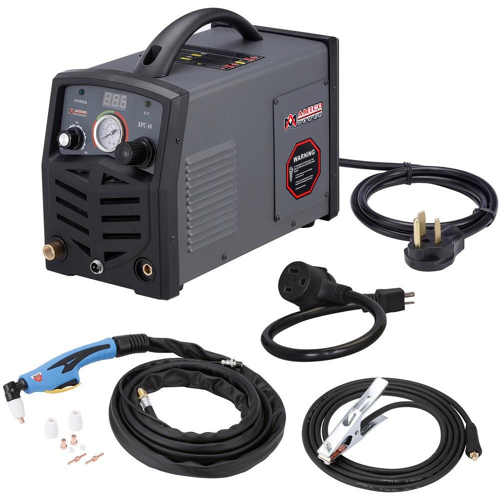 AMICO POWER APC-40, 40 Amp Plasma Cutter, 115-Volt/230-Volt Dual Voltage Compact Metal Cutting Machine, 1/2 inch Clean Cut