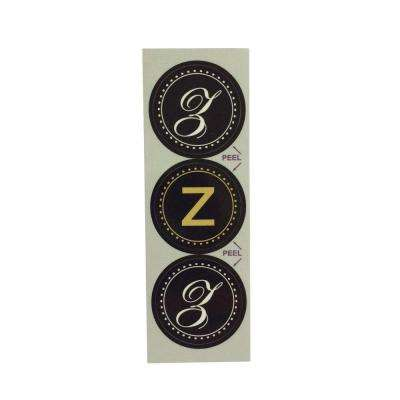 Z Monogram Decorative Bathroom Sink Stopper Laminates (Set of 3)