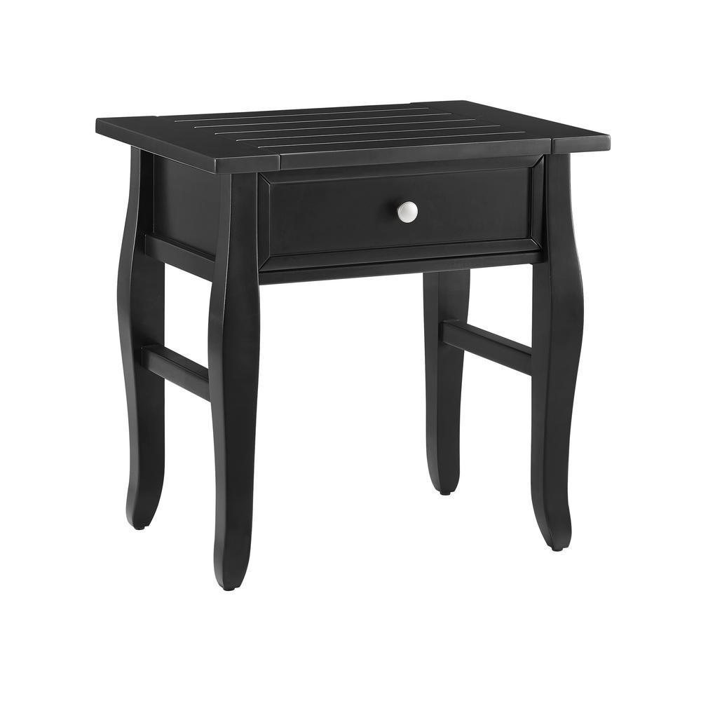 Denise Black 1-Drawer End Table