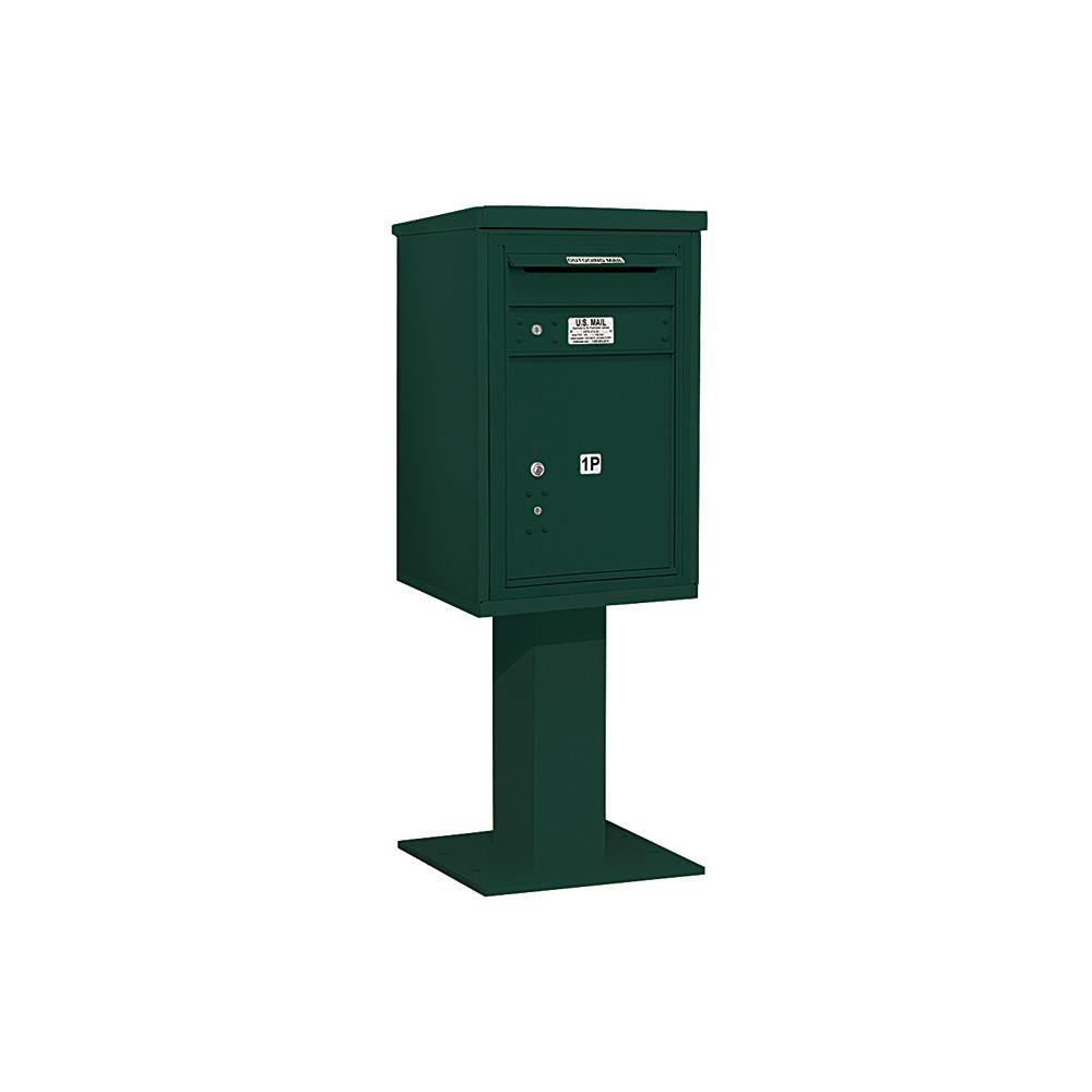3400 Series 55-1/8 in. 7 Door High Unit Green 4C Pedestal