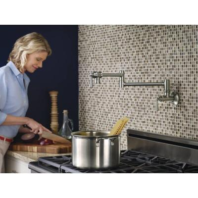 Wall Mounted Swing Arm Potfiller in Spot Resist Stainless