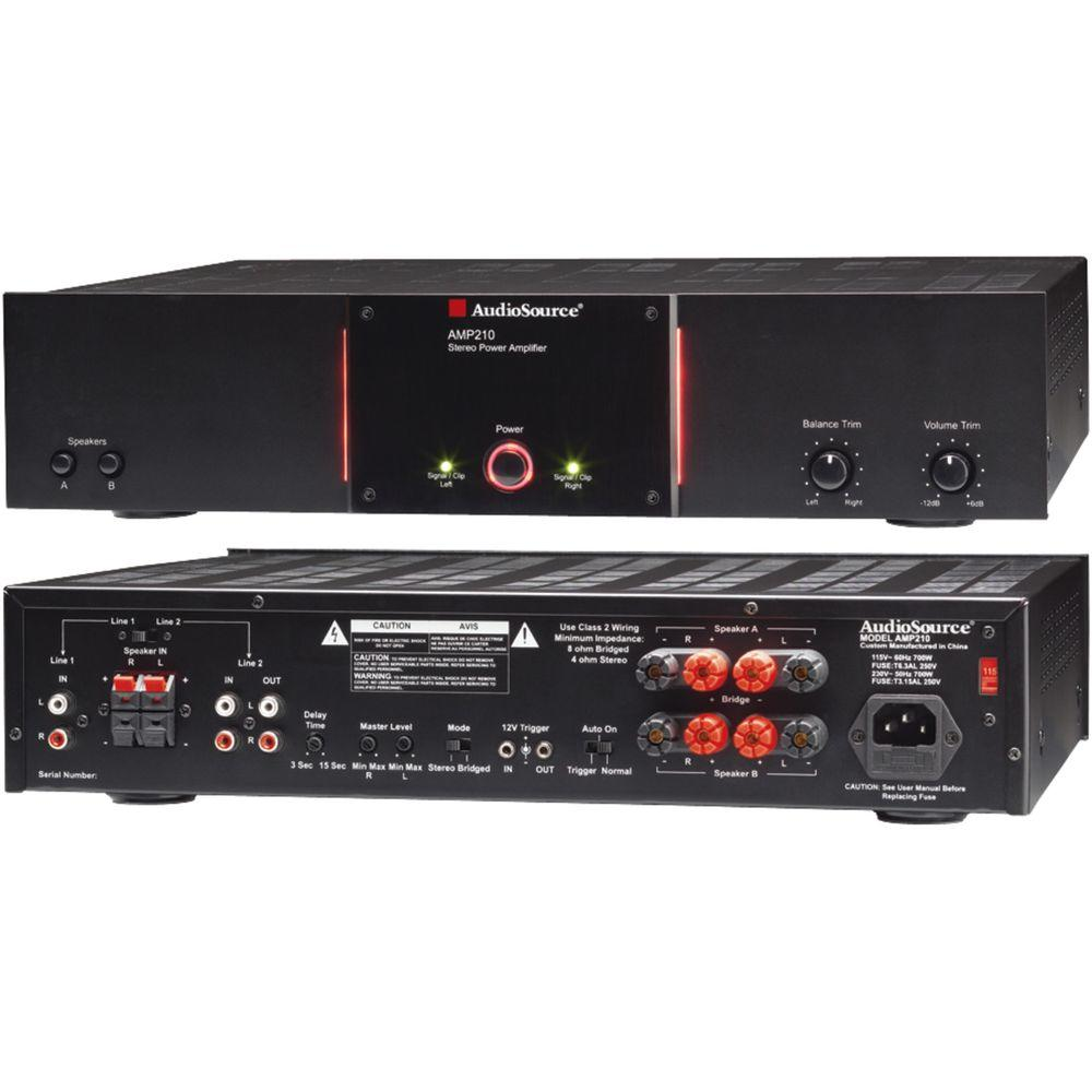 AudioSource 2-Channel 90-Watt Audio Distribution Power Amplifier