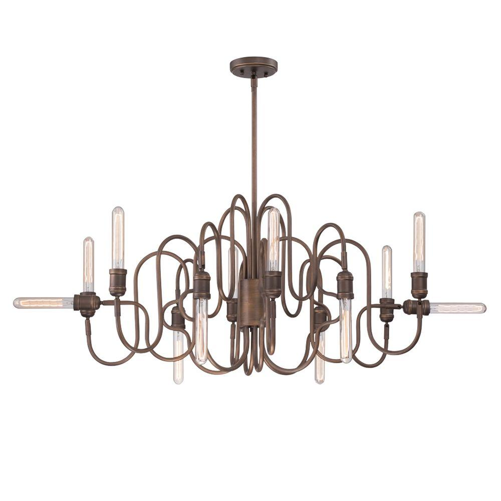 Briggs 12-Light Oil Rubbed Bronze Oval Chandelier