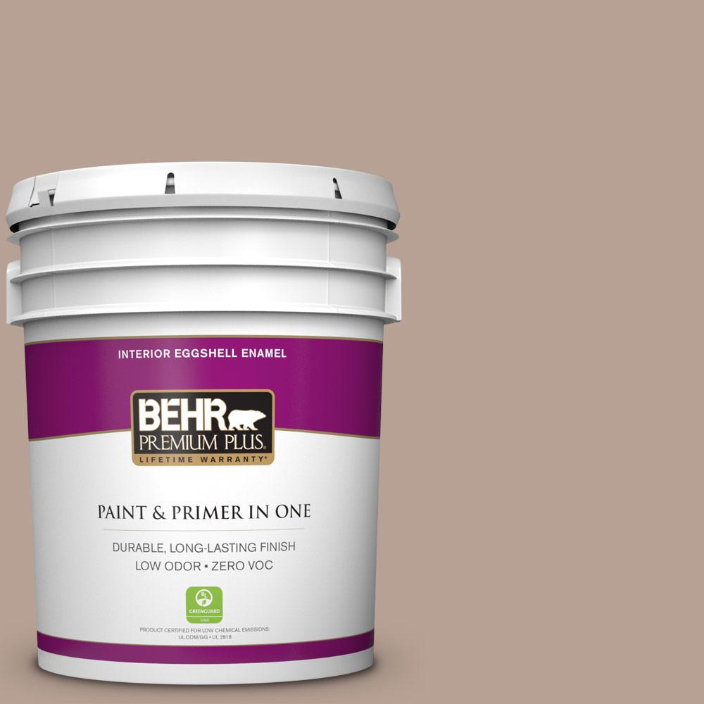 BEHR Premium Plus 5-gal. #N190-4 Rugged Tan Eggshell Enamel Interior Paint