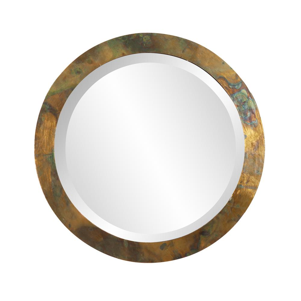 16 in. W by 16 in. W Camou Classic Style Small Round Mirror