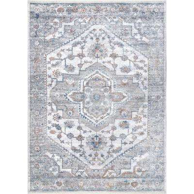 Cael Medallion Beige 5 ft. 3 in. x 7 ft. 7 in. Area Rug