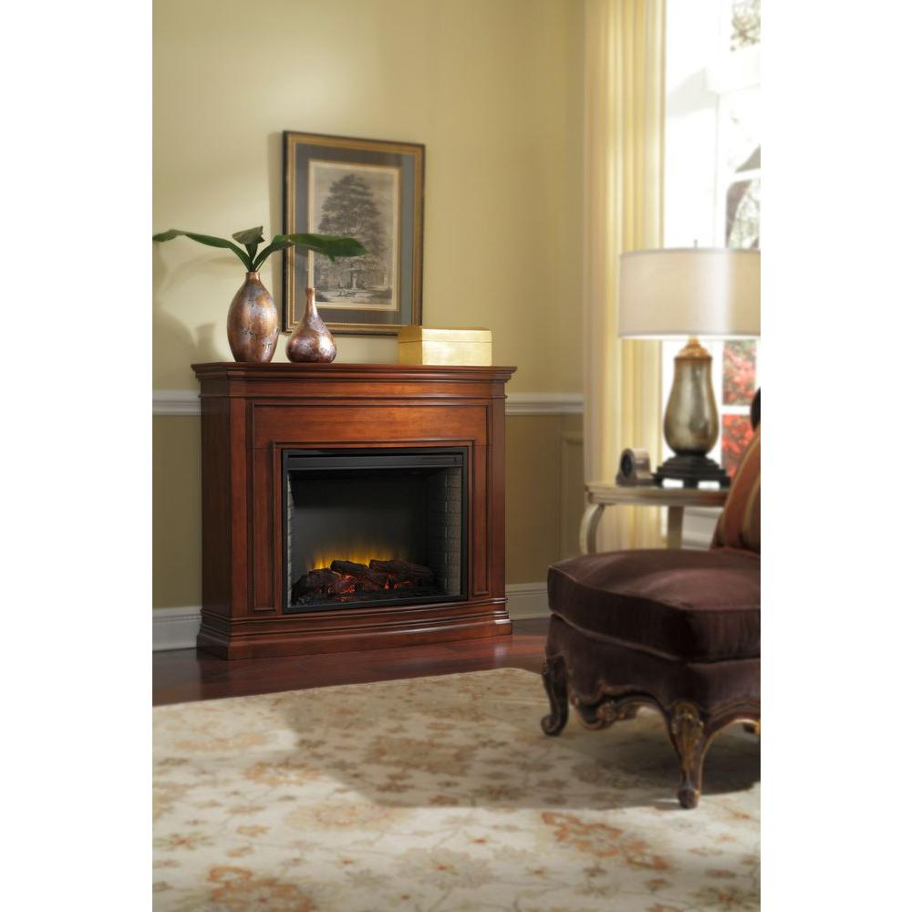 Pleasant Hearth Trent 46 in. Electric Fireplace in Mahogany