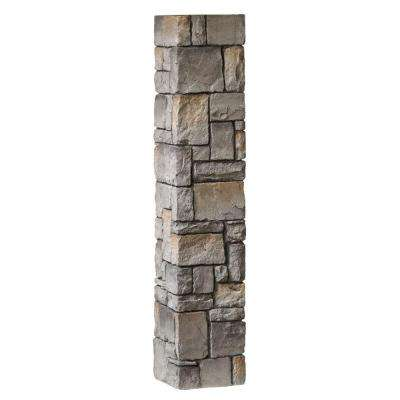 8-1/4 in. x 8-1/4 in. x 3-1/2 ft. Composite Gray Cobblestone Fence Postcover
