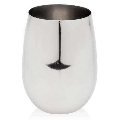 18 oz. Goblet Shiny Stainless Steel Stemless