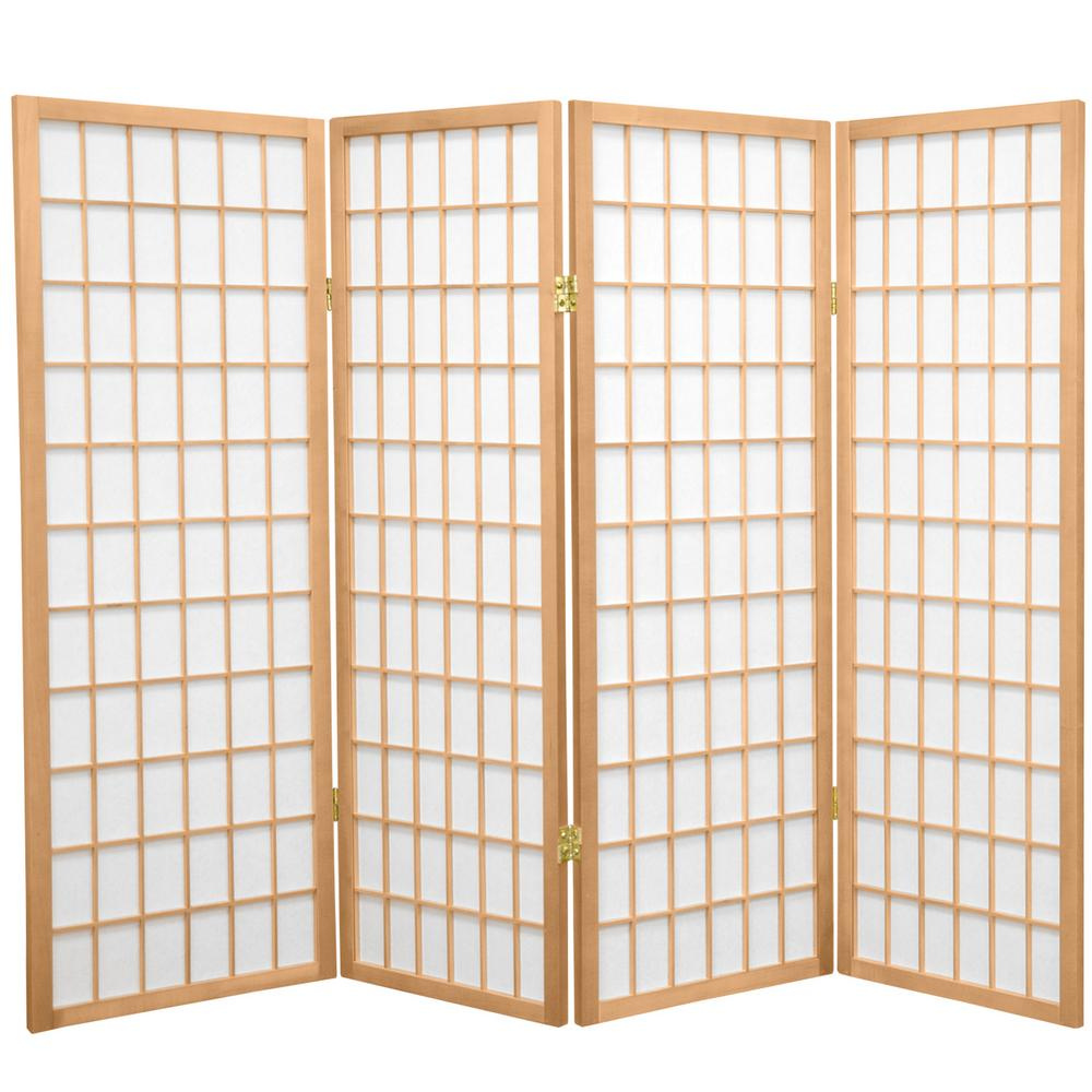 4 ft. Natural 4-Panel Room Divider