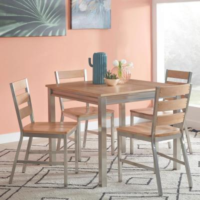 Sheffield Natural Whitewashed 5-Piece Dining Set