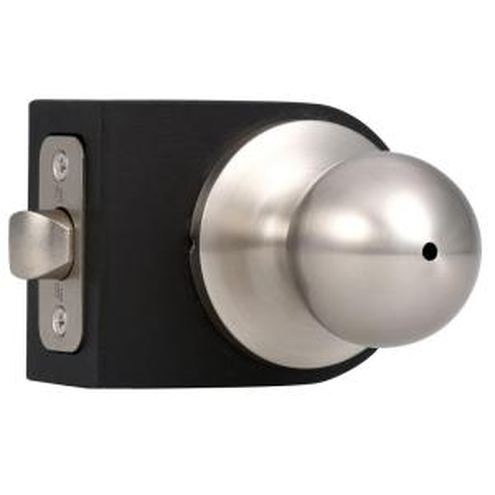premiere essentials privacy satin nickel hudson knob - Weslock