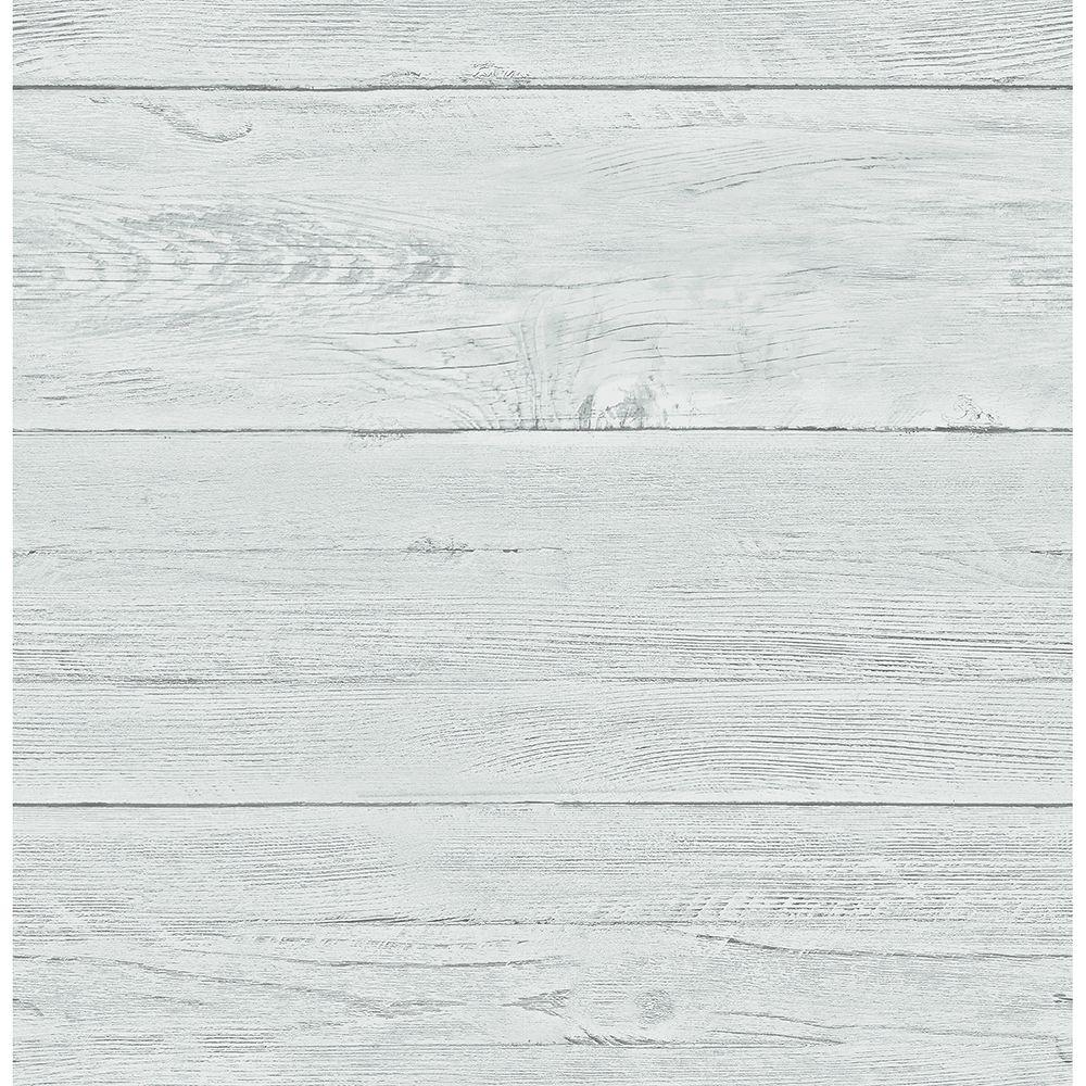 Brewster aqua white washed boards shiplap wallpaper 2701 for Brewster wallpaper