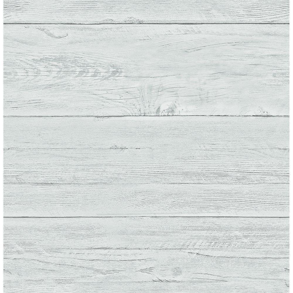 Aqua White Washed Boards Shiplap Wallpaper