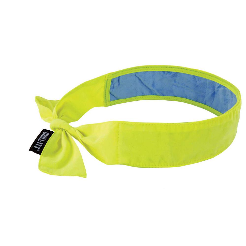 Lime Evaporative Cooling Bandana with Cooling Towel-Tie, 1 Size Fits Most